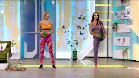 Antrenament full body cu un disc. Fitness cu Diana Stejereanu, la Neatza cu Răzvan și Dani