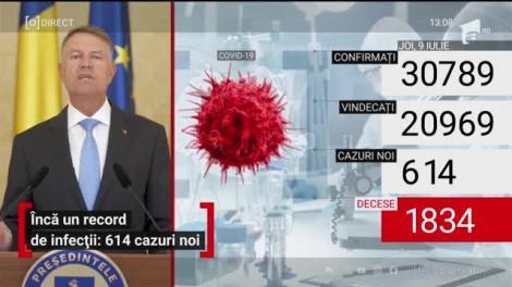 Klaus Iohannis, declarație de presă la Palatul Cotroceni