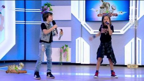 """Rock on!  Sebi și Dani, cei mai energici concurenți de la """"Next Star"""", au făcut show în platoul de la """"Neatza cu Răzvan și Dani"""""""