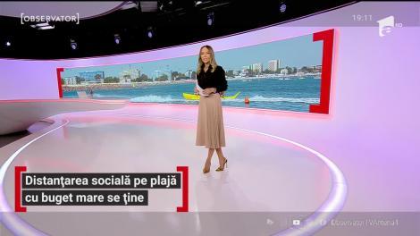 Distanțarea socială pe plajă cu buget mare se ține