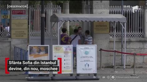 Catedrala Sfânta Sofia din Instabul, îşi pierde statutul de muzeu şi redevine moschee