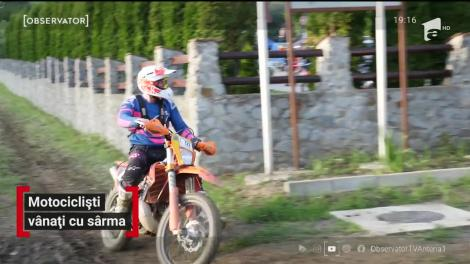 Motociclist aproape să fie decapitat de o sârmă pe un traseu din Cluj
