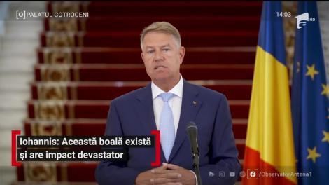 Klaus Iohannis, declarație de presă la Palatul Cotroceni: Această boală există!