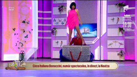 Circo Italiano Bonaccini, număr spectaculos, în direct, la Neatza