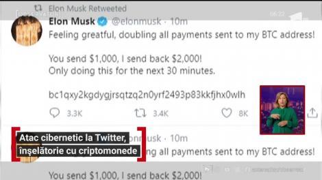 Atac cibernetic la Twitter. Conturile mai multor miliardari au fost sparte de hackeri într-o tentativă de înşelătorie cu criptomonede