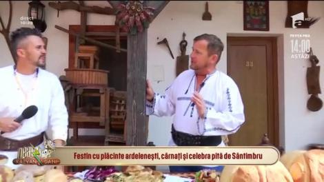Festin cu plăcinte ardelenești, cârnați și celebra pită de Sântimbru