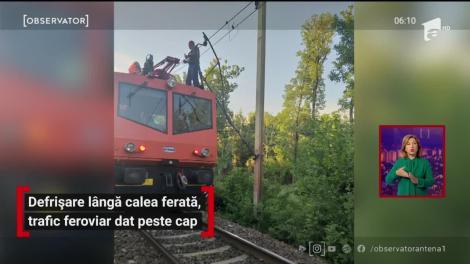 Traficul feroviar în zona Crivina-Brazi, pe raza judeţului Prahova a fost blocat