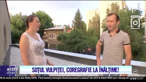 Soțul Vulpiței, dans la înălțime! Cum se mișcă Viorel pe ritmuri balcanice!   Video