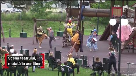 Scena teatrului, mutată în aer liber în Suceava