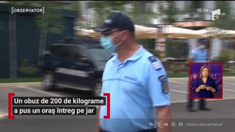 Mai mulţi muncitori în construcţii au dat peste un obuz de 200 de kilograme în timpul unor săpături