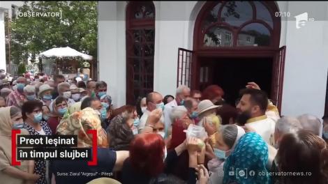 Panică în curtea unei biserici din Piteşti. Unui preot i s-a făcut rău în timp ce slujea de Sfântul Ilie