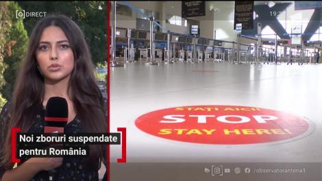 Noi zboruri suspendate pentru România