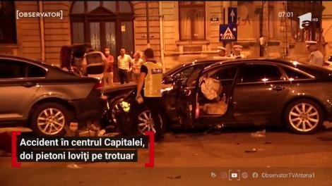 """""""I-am găsit contorsionați!"""" Accident grav în centrul Capitalei. Doi pietoni au fost striviți pe trotuar de o mașină"""