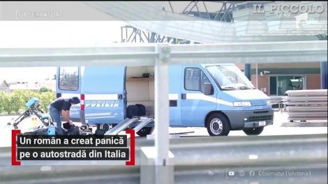 Autostrada A34 din Italia a fost blocată de un român. Acesta a declarat că are o bombă în maşină