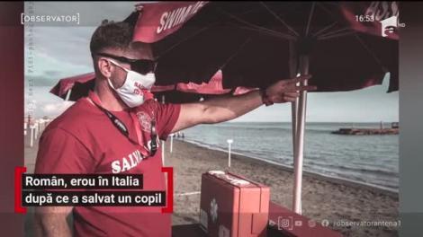 Român, erou în Italia după ce a salvat un copil