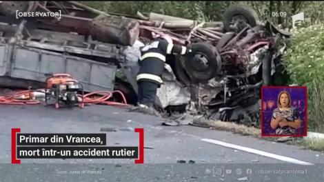 Costel Mateiu, primarul unei comune din Vrancea şi-a pierdut viaţa într-un accident rutier grav