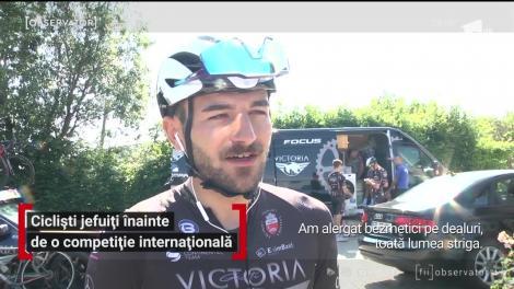 Cicliști jefuiți înainte de o competiție internațională