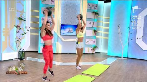 Fitness cu Diana Stejereanu! Antrenament full body cu mingea medicinală, la Neatza cu Răzvan și Dani