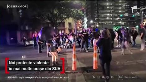 Noi proteste violente în mai multe orașe din SUA. În Texas, un bărbat a fost împuşcat
