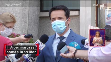 În judeţul Argeş, masca de protecție se poartă și în aer liber
