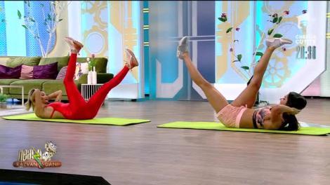 Fitness cu Diana Stejereanu! Antrenament full body bazat pe exerciții izometrice