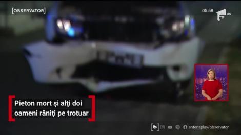Pieton mort și alți doi oameni răniți pe trotuar, în Capitală