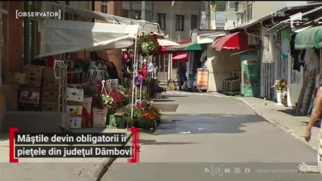 Reguli stricte! Oamenii sunt obligați să își acopere nasul și gura în piețele din județul Dâmboviţa