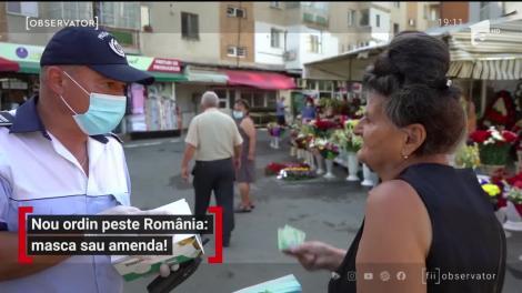 Nou ordin în România: mască de protecție sau amendă!