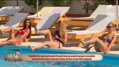 Antrenament în apă cu Diana Stejereanu! Exerciții la piscină