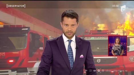 Incendiu puternic, depozit mistuit de flăcări în Bragadiru