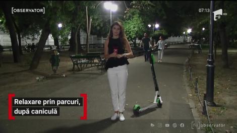 Bucureștenii au ieșit seara la plimbare prin parcuri