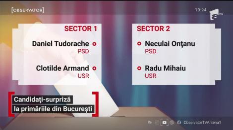 Candidați surpriza la primăriile din București