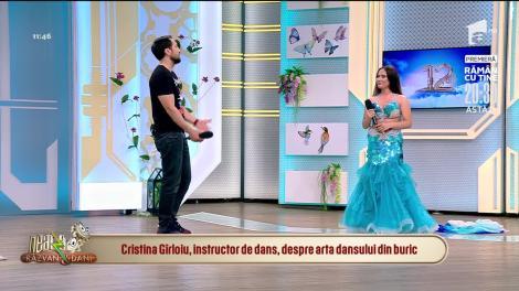 Cristina Gîrloiu, instructor de dans, despre arta dansului din buric