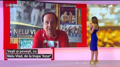 Trupa Azur, peste 4500 de concerte live. Nelu Vlad, solistul trupei, are în plan un mega concert la Sala Palatului