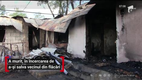 Un bărbat din Vaslui a murit încercând să-şi salveze vecinii din calea focului