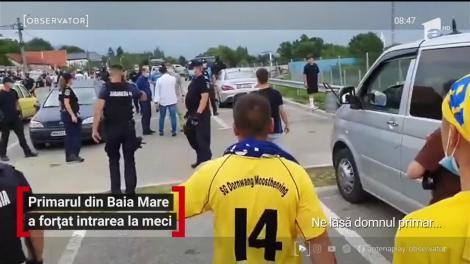 300 de suporteri ai echipei Minerul Maramureş au încercat să vadă, cu forţa, meciul echipei preferate