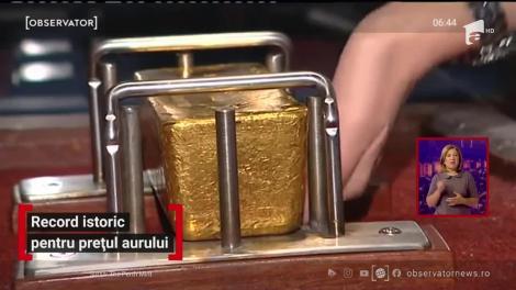 Record istoric pentru prețul aurului