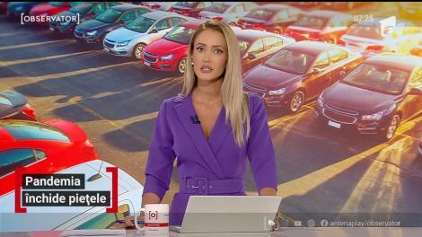 Cea mai mare piață de mașini din vestul țării a fost închisă din cauza creșterii cazurilor de COVID