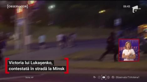 Victoria lui Lukaşenko, contestată în stradă la Minsk