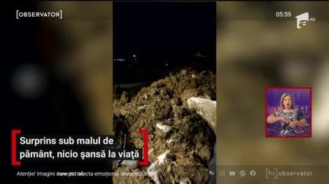 Moarte violentă în comuna Tureni, judeţul Cluj. Un bărbat a fost prins sub un mal de pământ