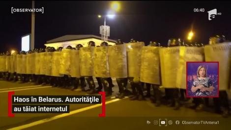 Haos la Belarus. Autoritățile au tăiat internetul