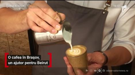O cafea în Brașov, un ajutor pentru Beirut