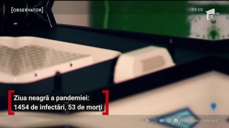 Cea mai negră zi a pandemiei pentru România! 53 de români au murit în ultimele 24 de ore şi s-a atins un nou record al infectărilor, 1.454 cazuri noi