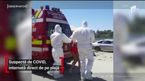 Intervenţie cu şenilata pe plaja din Eforie Nord, după ce o turistă a acuzat simptome de COVID
