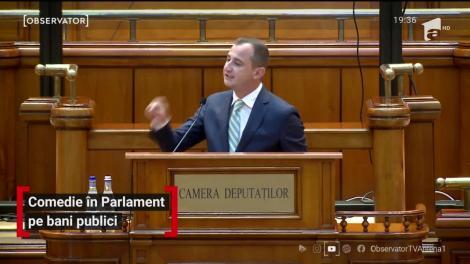 Comedie în Parlament pe bani publici