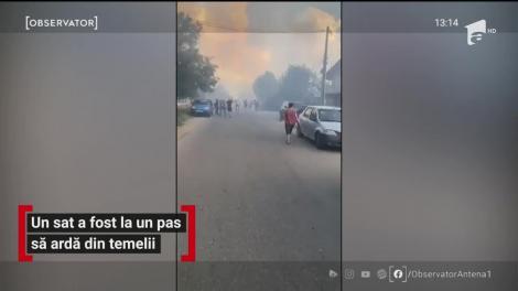 Un sat a fost la un pas să ardă din temelii
