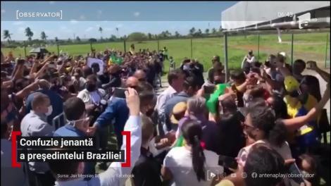 Preşedintele Braziliei a ridicat pe umeri un bărbat cu nanism, crezând că era un copil