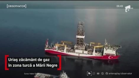Uriaș zăcământ de gaz în zona turcă a Mării Negre