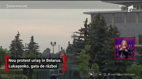 Nou protest uriaș în Belarus. Alexandr Lukaşenko, gata de război