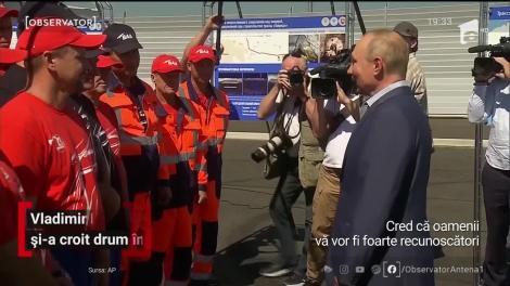 Vladimir Putin sfidează din nou. Liderul de la Kremlin a inaugurat principala autostradă din Crimeea